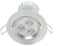 """3.5""""e; LED Recessed Light for Flat or Sloped Ceilings - Ultra Bright (9W)"""