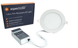 """6""""e; Ultra-Thin LED Recessed Light - 9 Watt (65 Watt Equivalent)"""