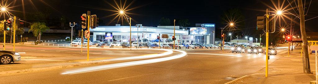 car dealership lot lighting