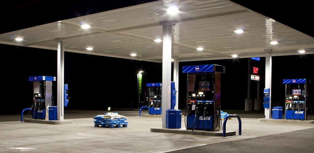 FUEL STATION CANOPY LIGHTING & Gas Station Lighting - Applications - aspectLED