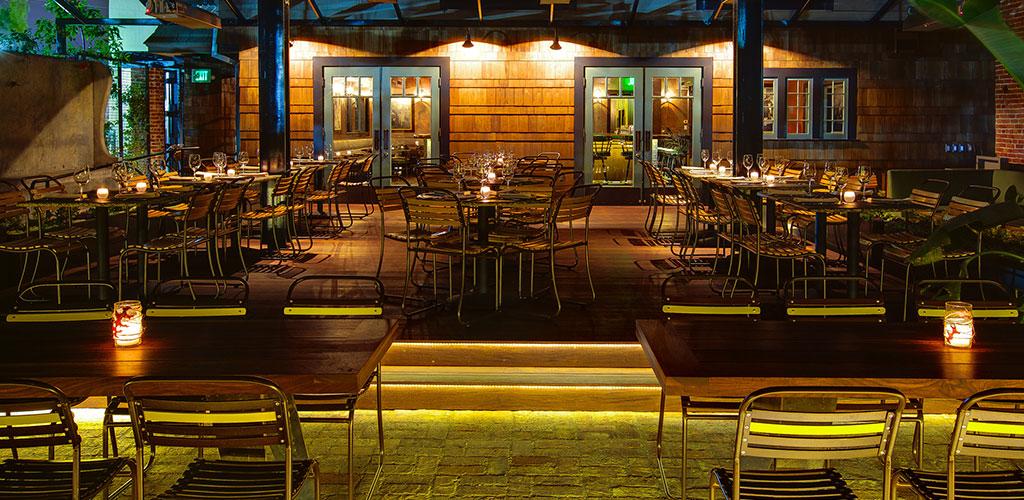 Restaurant lighting interiorexterior patio applications aspectled outdoor patio lighting aloadofball Images