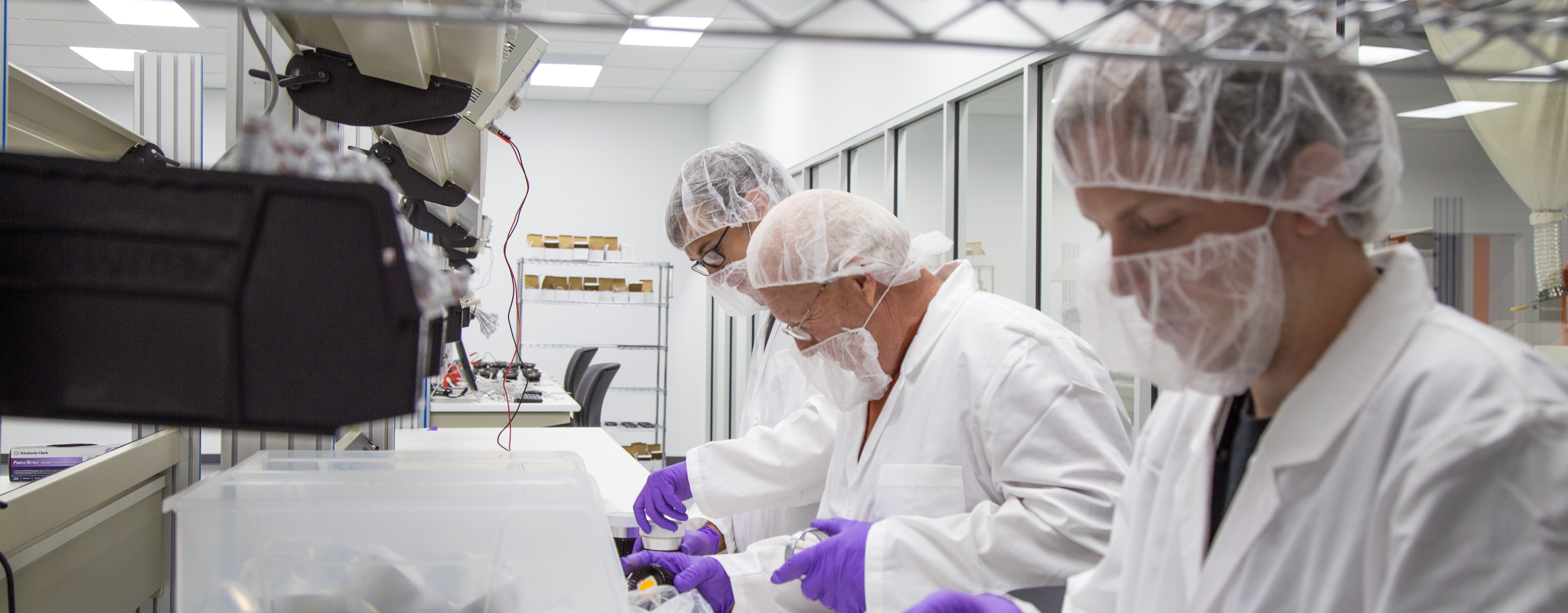 Workers in Clean Room