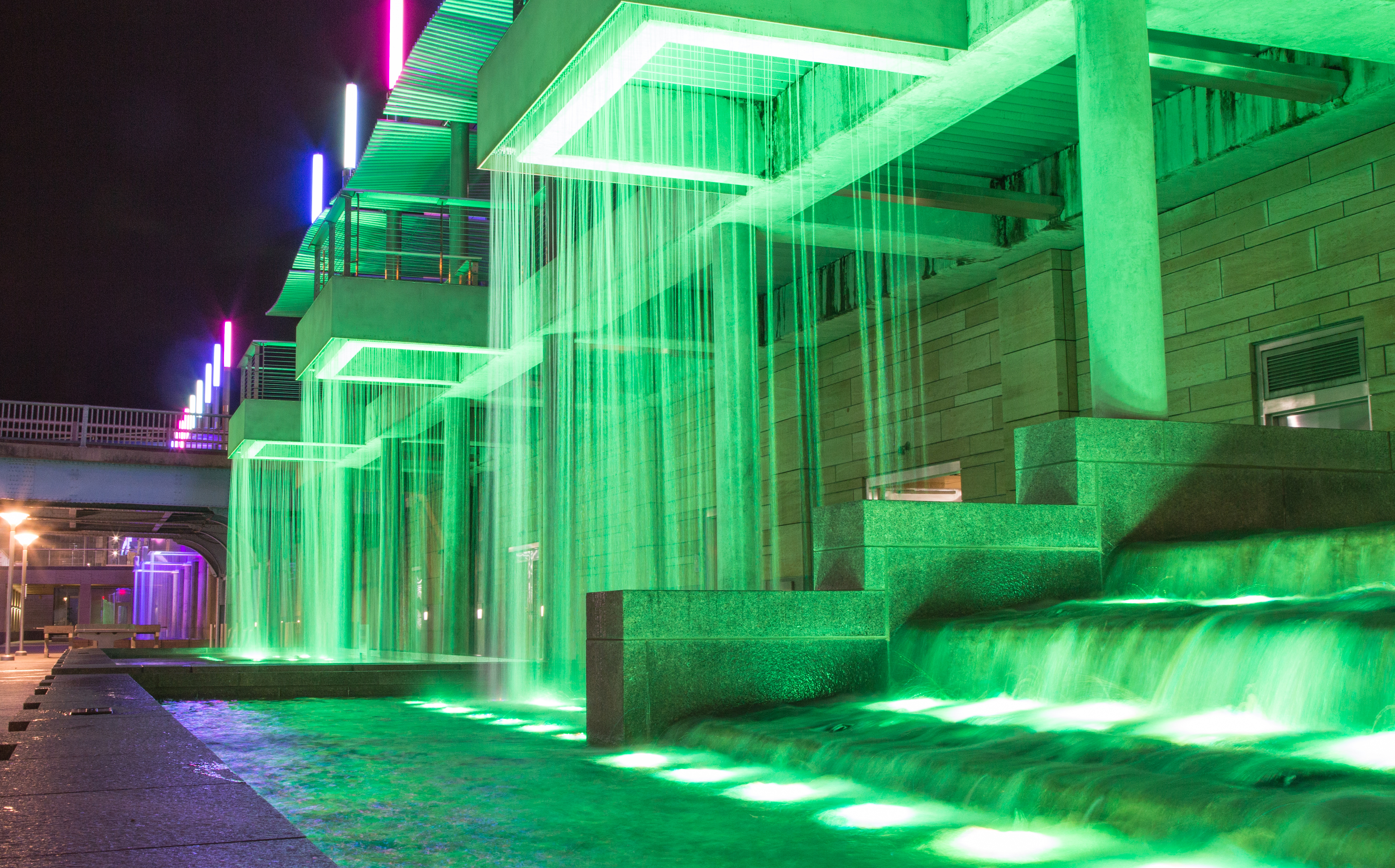 LED Fountain Wall Washing