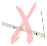 Do not fold or crease LED strip lights