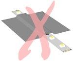 Do not cover LED strip light