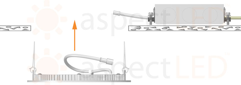 Ultra Thin Recessed Led Fixture Installation Guide Aspectled